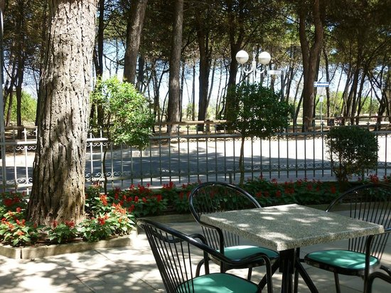 Hotel San Pietro:                   Hotel S. Pietro - l'ampia zona relax nel giardino con veranda
