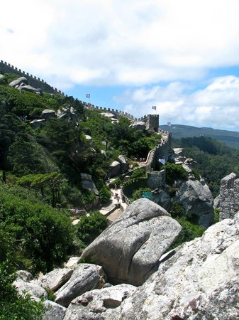 Castle of the Moors:                   Hiking Moors' Castle