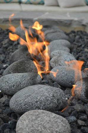 Cape Rey Carlsbad, a Hilton Resort:                   Rock fire