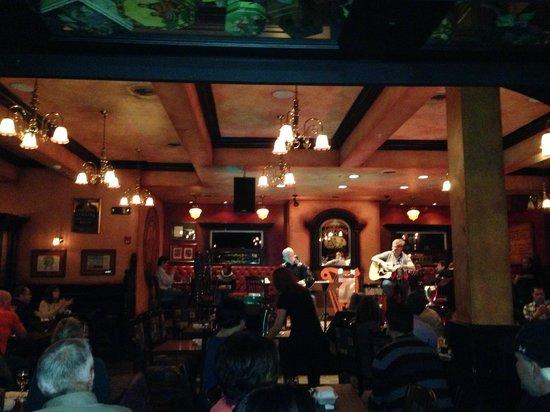 Frank O'Dowd's Irish Pub:                   Live music had everyone singing along!