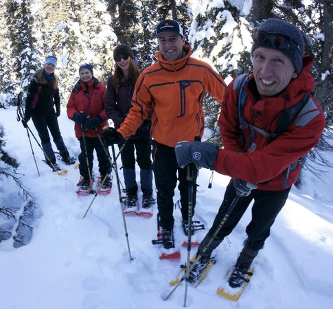 Great Divide Day Hikes:                   snowshoeing with great divide