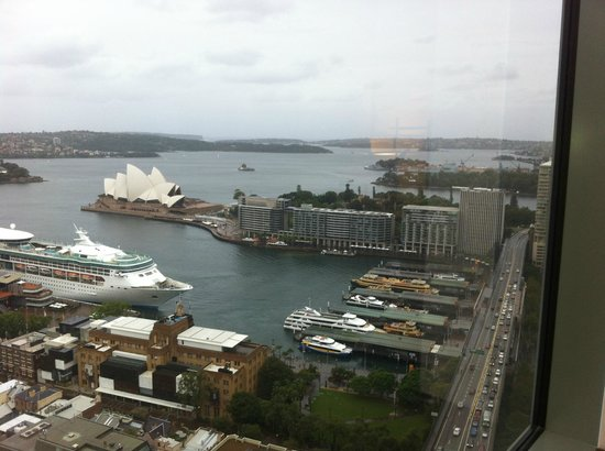 Shangri-La Hotel Sydney:                   part of my view (north-east)
