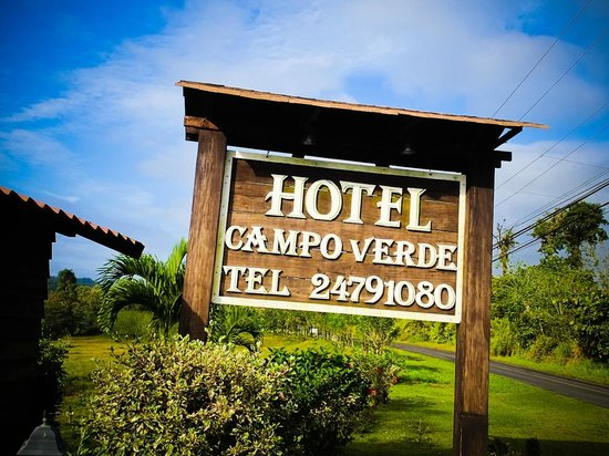Hotel Campo Verde:                   sign