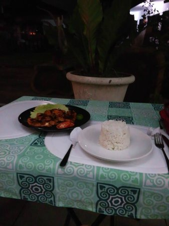 Eve's Kiosk Dive Resort:                   TERIYAKI chicken&rice