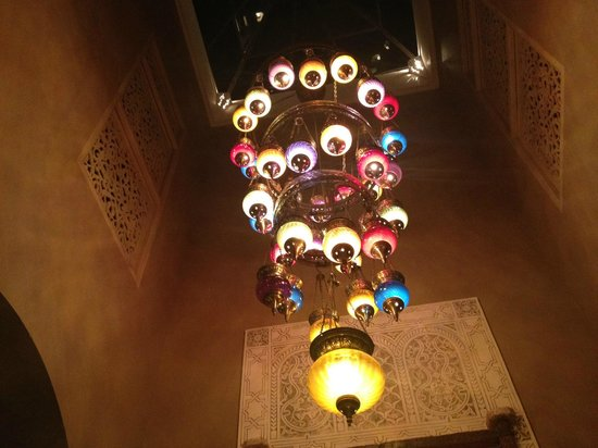 Riad Camilia:                   Beautiful lamp in the dining room