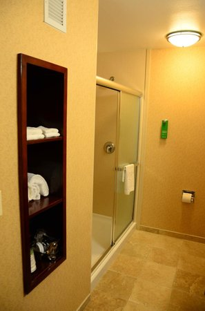 Hampton Inn & Suites Windsor - Sonoma Wine Country:                   Walk-in shower; no tub