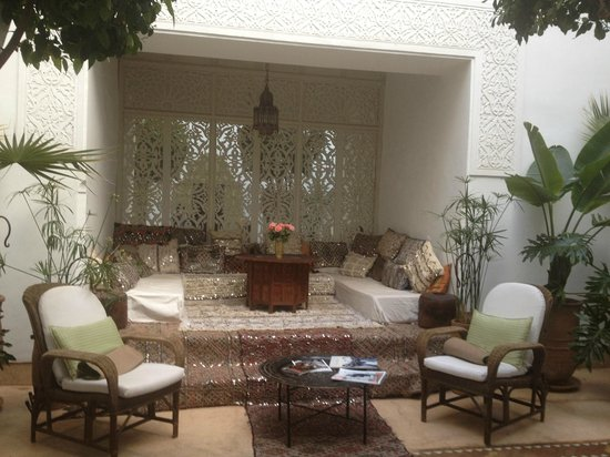 Riad Camilia:                   Beautiful living room..