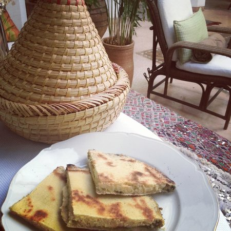 Riad Camilia:                   Savory pancakes at breakfast