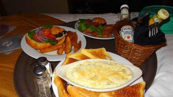 Cove Point Lodge:                   Room Service Meal
