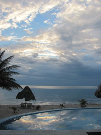Maya Beach Hotel:                   View from the Agua Villa house