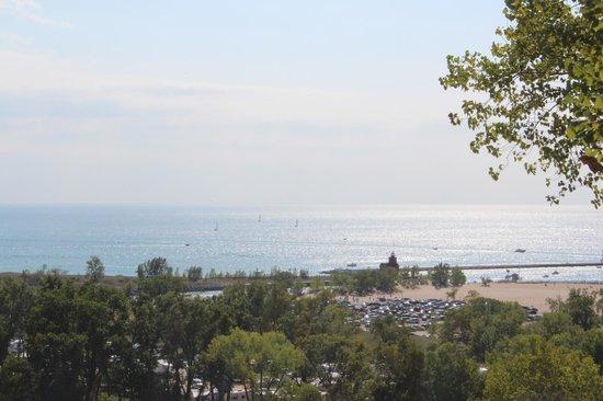 Mount Pisgah:                   Looking towards Lake Michigan and Big Red