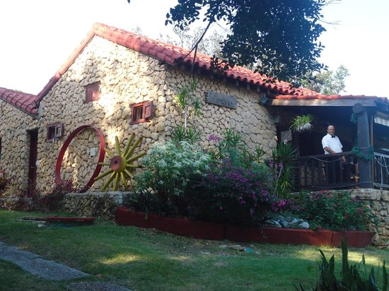 La Campana :                                     Outside-it is located in old stone house