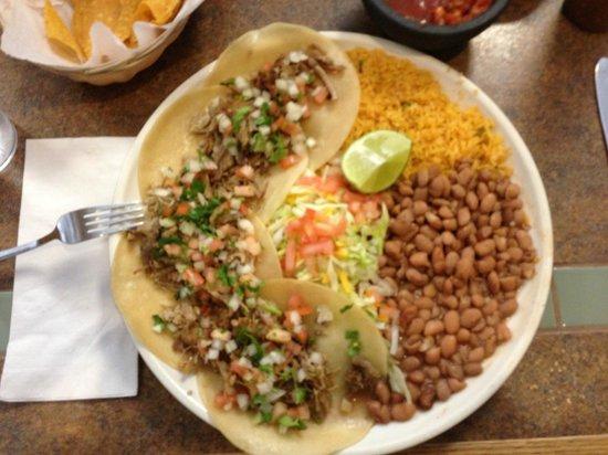 Fiesta Guadalajara:                   Carnitas Tacos
