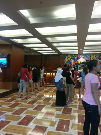 Resorts World Sentosa - Festive Hotel:                   Lobby.  Loooong queue to check in, took more than 30 mins.