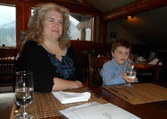 The Island Restaurant:                   Rowan holding his glass the proper way ;)