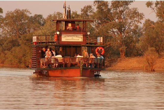 Longreach, Australia: Thomson Belle Paddlewheeler in its new colours