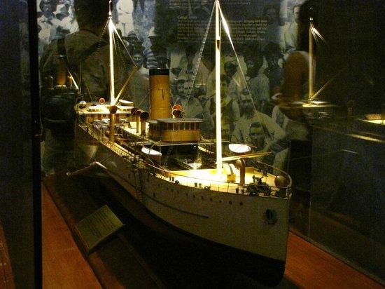 Canal de Panamá:                   Maqueta en el Museo cito en las Esclusas Miraflores