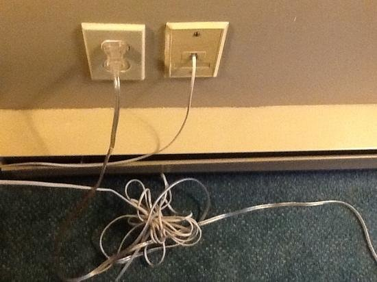 Kingfisher Oceanside Resort and Spa:                                     wires too close to the only heater in standard room