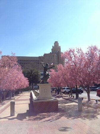 Bathhouse Row: the trees were in full bloom
