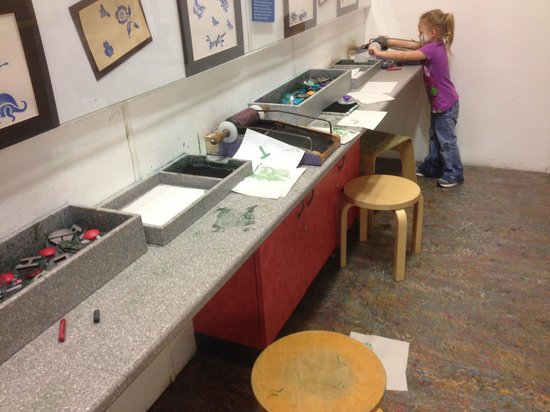 Creative Discovery Museum:                   ALL the arts & crafts were a MESS