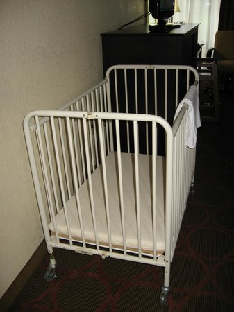 Metal Crib That Eventually Made It Upstairs After A Few