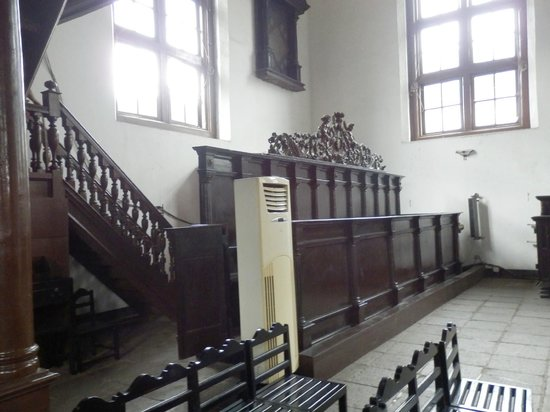Black Portuguese Church (Gereja Sion):                   The stairs leading up to the organ, visitors can climb up