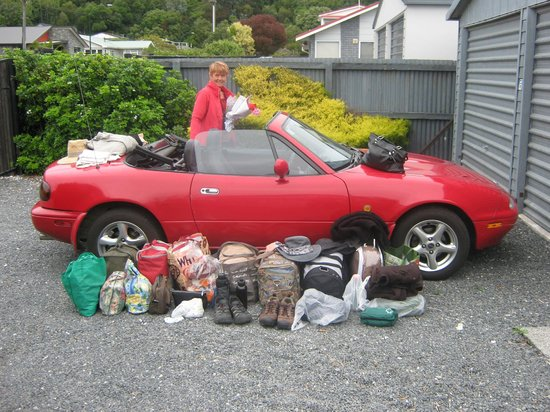 Timaru TOP 10 Holiday Park:                   Standard cabin took all this luggage!
