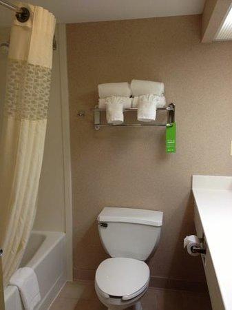 Hampton Inn and Suites Seattle North Lynnwood:                   トイレの流す音でびっくりするかも