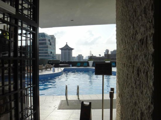 Hilton Singapore:                   屋上のプール