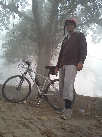 Cycling Tour: Breakfast with Migratory Birds :                                     This is taken not too far from Dwarka, New Delhi.