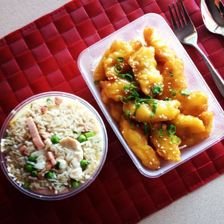 Golden Ocean Chinese Restaurant :                                     Special fried rice & honey chicken