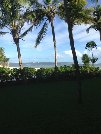 Outrigger Fiji Beach Resort:                   view from bottom level ocean view