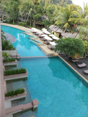 Krabi La Playa Resort:                   small pool of your own (left side) joining the main pool