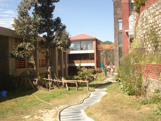 Club Mahindra Kanatal:                   way to rooms and fun zone