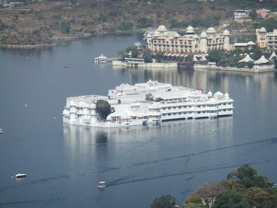 Taj Lake Palace Udaipur View Of Hotel From Top