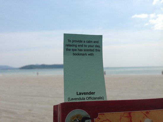 Casa del Mar, Langkawi:                   Scented bookmark