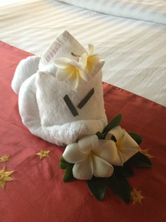 Bandara Resort & Spa:                   Small touches by cleaning staff