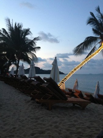 Bandara Resort & Spa:                   Beach at dusk