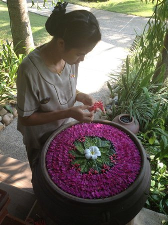 Bandara Resort & Spa:                   Floral decorations in gardens