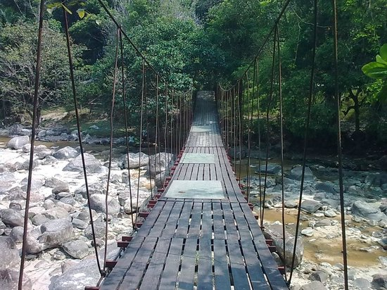 Ranong, Thailand: Hanging bridge