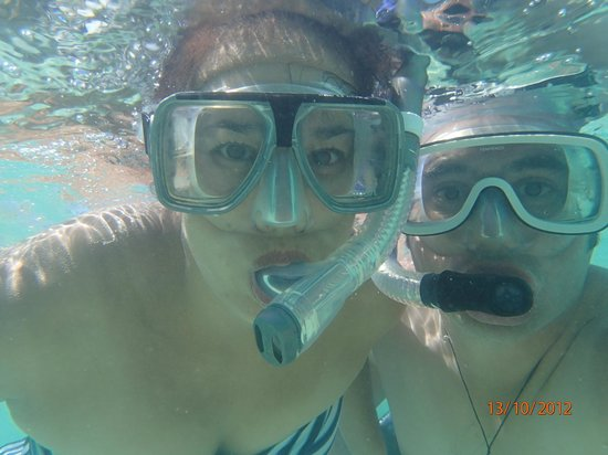 Sands Villas:                   Snorkelling right in front of the villa's