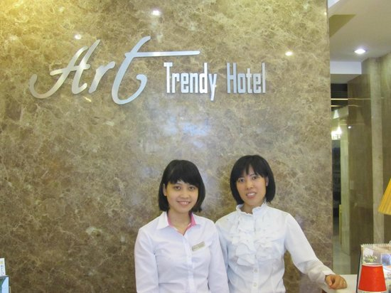 Art Trendy Hotel:                   Reception - Suor training new member