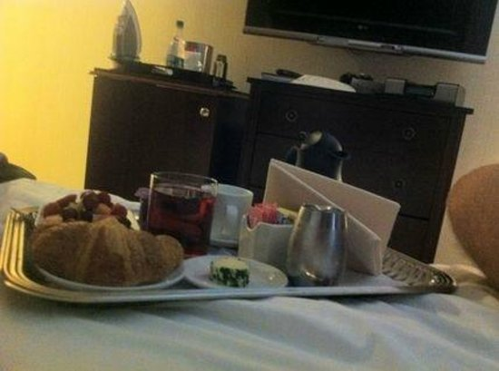 The Iroquois New York:                   Delicious roomservice with continental breakfast