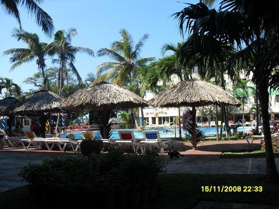 Hotel Club Tropical:                   Внутренний двор с бассейном