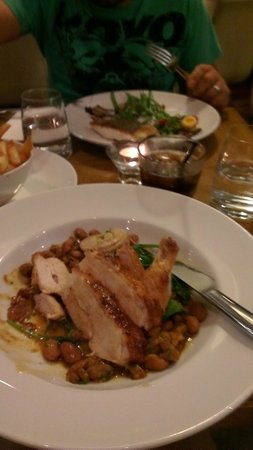 Esca Bar and Bistro:                   Chicken breast & Barramundi main meals