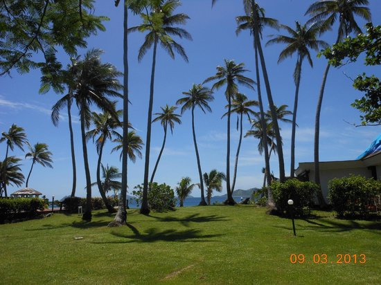 Mana Island Resort:                   Love the gardens