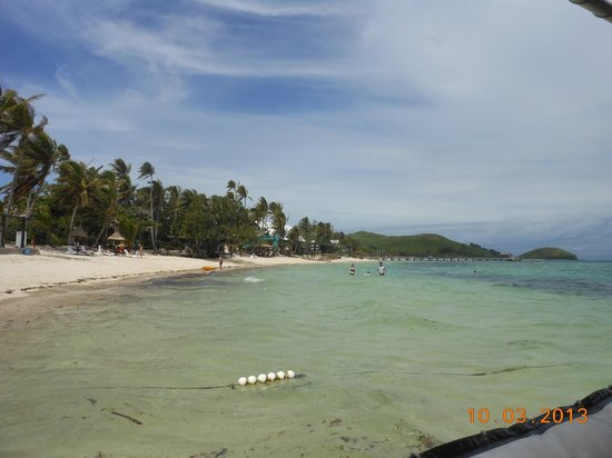 Mana Island Resort:                   North Beach