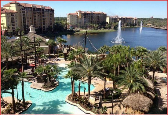 Wyndham Bonnet Creek Resort:                                     Overview of the swimming pool