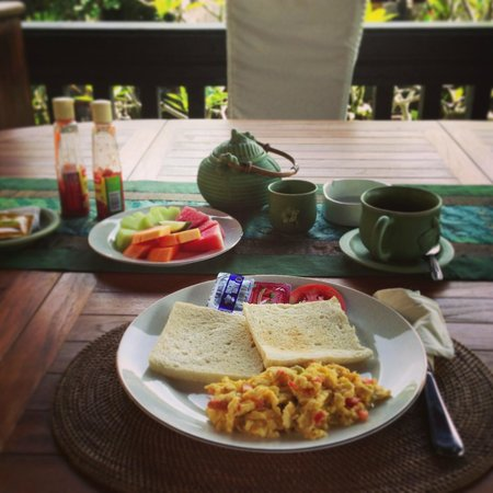 Bayu Guest House:                   First day breakfast