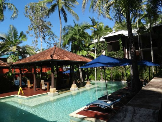 Hibiscus Resort & Spa:                   View of main pool and dining area